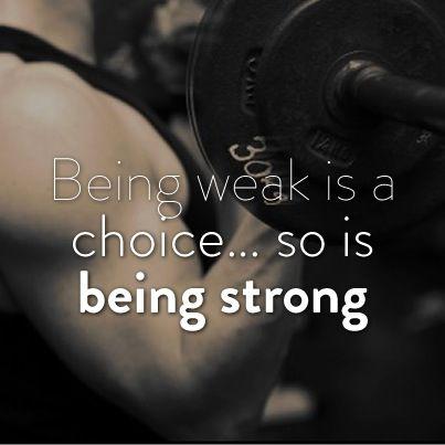 being weak